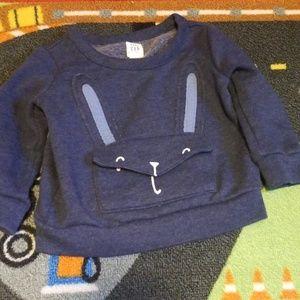 Baby gap bunny sweatshirt